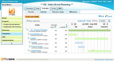 project template for event management sales event planning